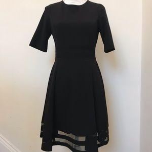 Calvin Klein Black Fit & Flare Size 6P